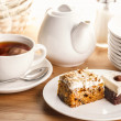 Tea and cake slices — Stock Photo #40446645