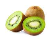 Fresh kiwi isolated on white — Stock Photo