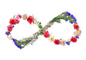 Conceptual image: floral composition for Women day — Stock Photo