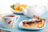 Tea with dessert — Stockfoto