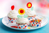 Muffins decorated — Stock fotografie