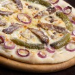 Pizza with gherkins — Stock Photo #45558163