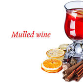 Mulled wine with apples — Stok fotoğraf