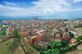 Panoramic view of Corfu town — Stock Photo