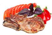 猪肉牛排 — 图库照片