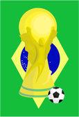 Football international event trophy design — Stock Vector