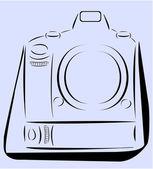 Profession Camera with strap minimalist design vector — Stock Vector