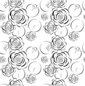 Patrón de flor de loto — Vector de stock