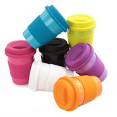 Color plastic cup — Stock Photo