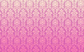 Pink Seamless Damask Vector Illustration — Stockvektor