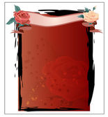 Rose Theme Template Vector Illustration — Stockvektor