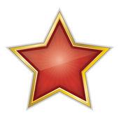 Red Star Vector Illustration — Stock Vector