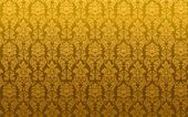 Ilustração em vetor de damasco sem costura dourado — Vetor de Stock