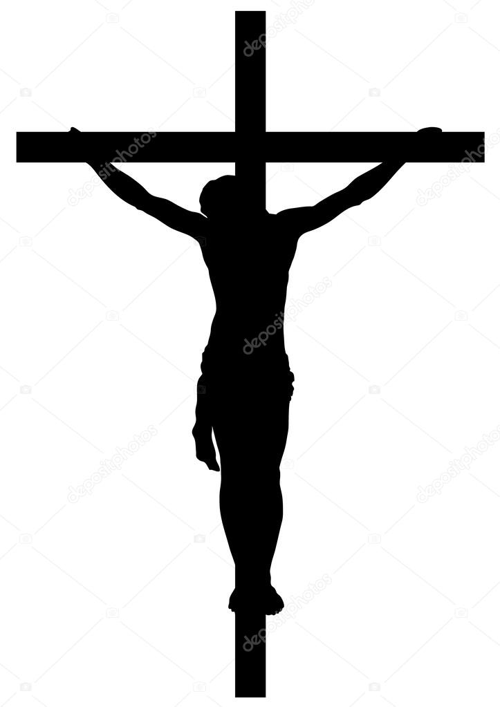 Jesus Christ Crucifiction Silhouette — Stock Vector ...