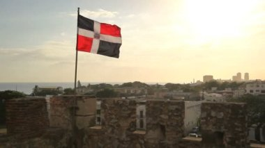 Flag of the Dominican Republic — Stockvideo