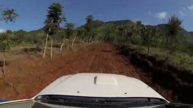 Driving on Dominican Republic road — Stock Video