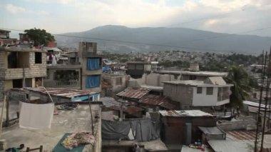 Wide panning shot over Port au Prince, Haiti. — Stockvideo