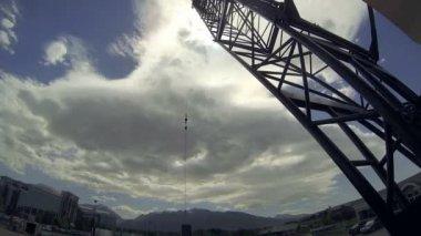 Crane time-lapse 2. — Stock Video