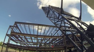 Crane time-lapse. — Stock Video