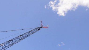 Construction crane. — Stock Video