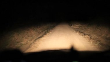 Driving dirt road in the Congo at night. — Stock Video