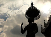 Buddha silhouette — Stock Photo
