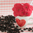 Coffee in love theme — Stock Photo