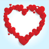 Valentine's Day - Heart Shaped Frame — Stock Vector