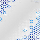Abstract Background With Blue Hexagons — Vector de stock