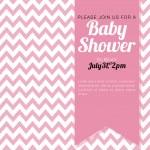 Chevron baby shower girl — Stock Vector