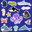 Cute sea creatures — Stock Vector