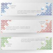 Hexagonal abstract design — Stock Vector