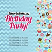 Süßigkeiten-Geburtstagskarte — Stockvektor