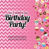 Sweets birthday card — Stock Vector