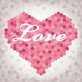 Honeycomb hjärta — Stockvektor