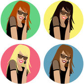 Young Woman On The Phone - Vector Icons EPS10 — Stock Vector