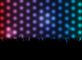 Party Background - Silhouettes & Lights — Stock Vector