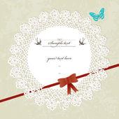Vintage design invitation, greeting card — 图库矢量图片