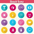 Colorful Beach Icons - vector EPS10 — Stock Vector