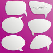 3d Speech Bubbles Outlines — Stock Vector