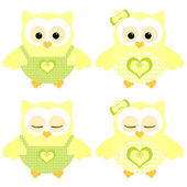 Cute owls — Stock Photo