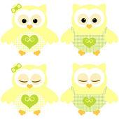 Cute owls. — Stock Vector