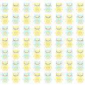 Cute Doll pattern. — Stock Vector