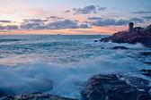 SUNSET ON TUSCANY SEA — Stock Photo