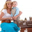 Little boy with mother — Stock Photo