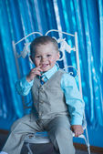 Little boy smiles — Stock Photo
