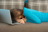 Student feels burnout — Stock Photo