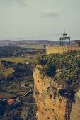 Balcony at Ronda canyon. Province of Malaga, Spain — Stock Photo