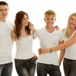 Group beautiful of happy young people — Stock Photo