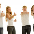 Group beautiful of happy young people — Stock Photo #43830183